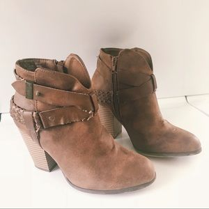 XOXO Rustic Brown Boot with Braided detail